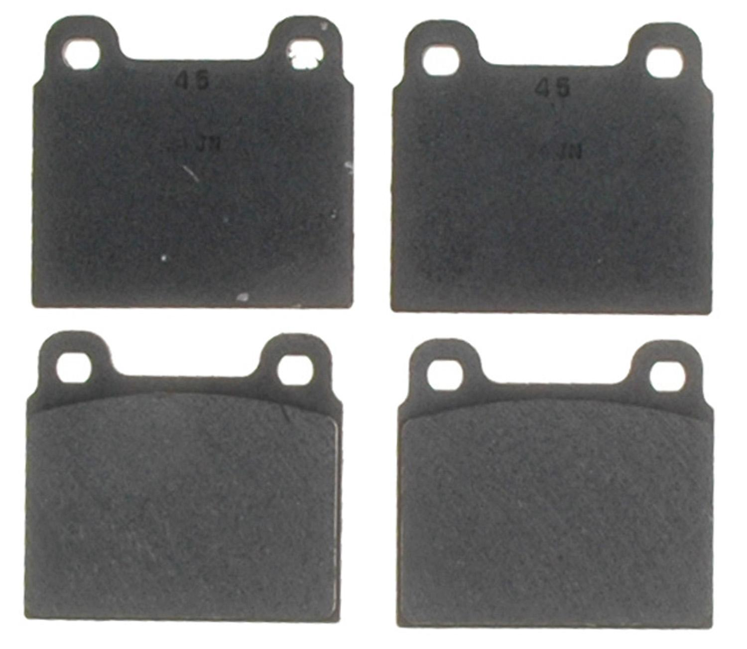 ACDELCO PROFESSIONAL BRAKES - Organic Disc Brake Pad (Front) - ADU 17D45