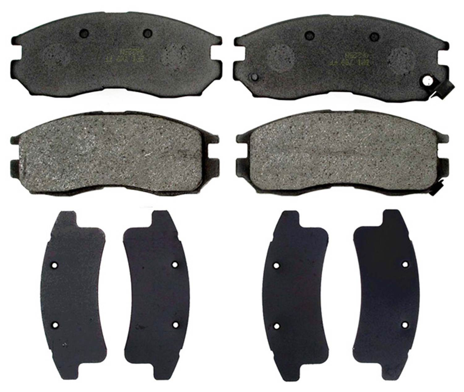 ACDELCO GOLD/PROFESSIONAL BRAKES - Organic Disc Brake Pad (Front) - ADU 17D484