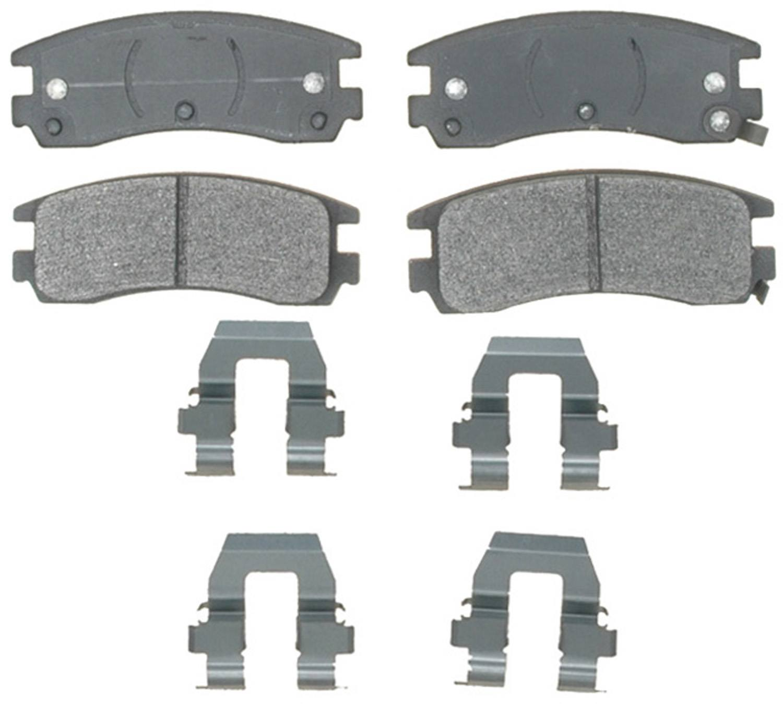 ACDELCO PROFESSIONAL BRAKES - Semi Metallic Disc Brake Pad (Rear) - ADU 17D508MH