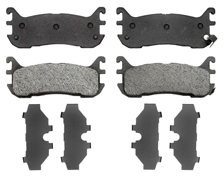 ACDELCO PROFESSIONAL BRAKES - Organic Disc Brake Pad (Rear) - ADU 17D636