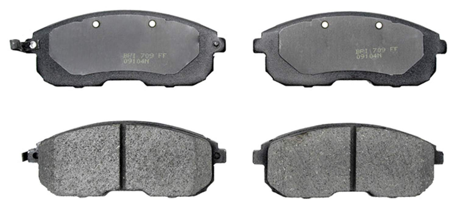ACDELCO PROFESSIONAL BRAKES - Organic Disc Brake Pad (Front) - ADU 17D653