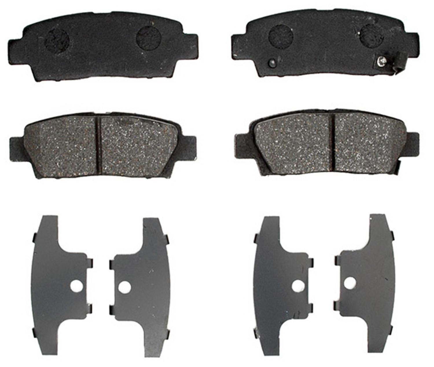 ACDELCO PROFESSIONAL BRAKES - Ceramic Disc Brake Pad (Rear) - ADU 17D672C