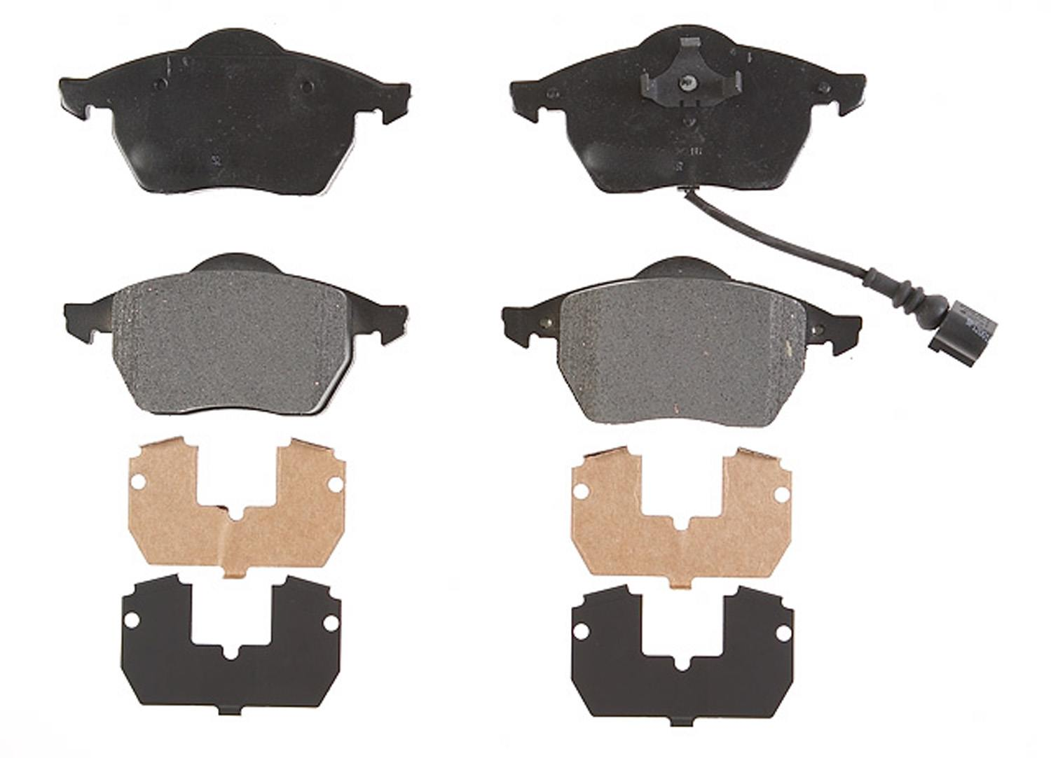 ACDELCO PROFESSIONAL BRAKES - Semi Metallic Disc Brake Pad (Front) - ADU 17D687AM