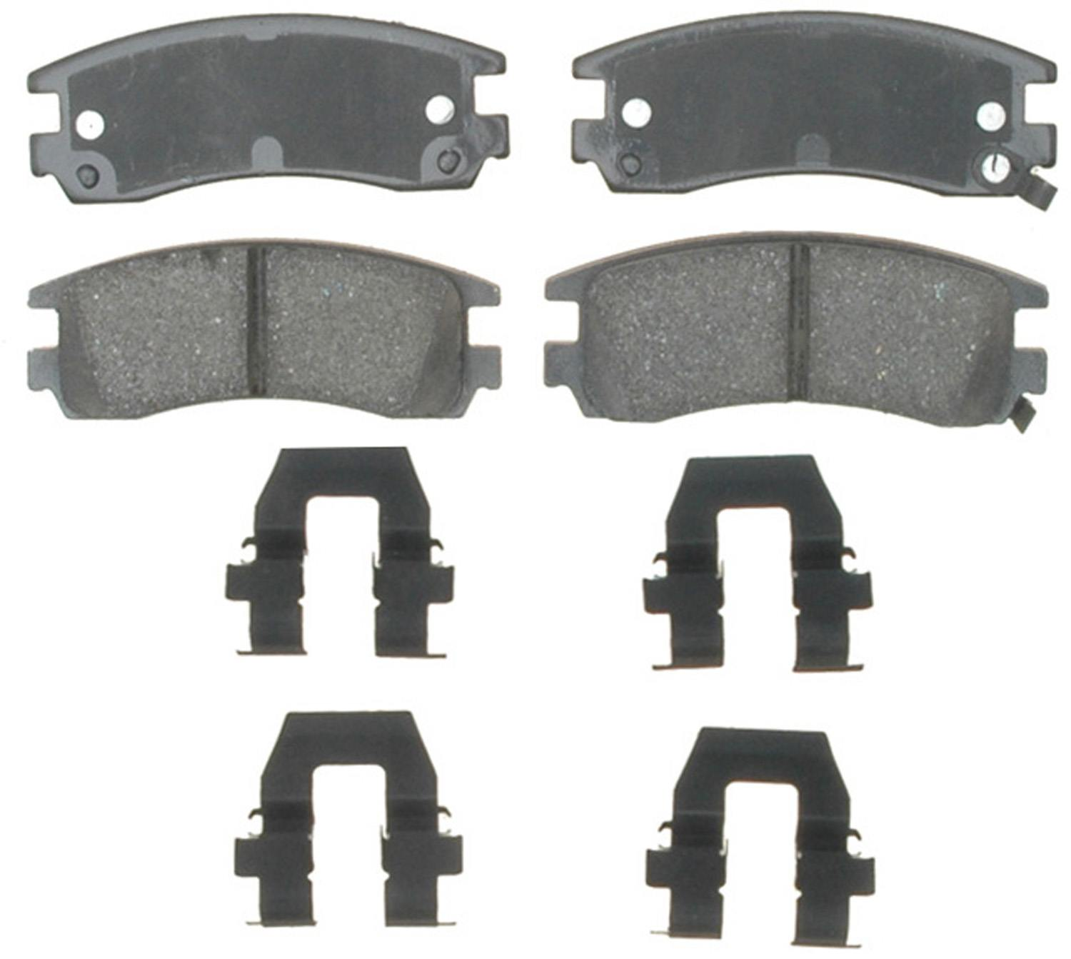 ACDELCO GOLD/PROFESSIONAL BRAKES - Ceramic Disc Brake Pad (Rear) - ADU 17D698CH