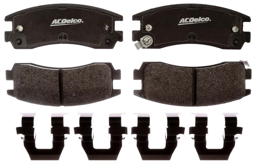 ACDELCO GOLD/PROFESSIONAL BRAKES - Enhanced Performance Police, Semi-Metallic (Rear) - ADU 17D698MHPVF1