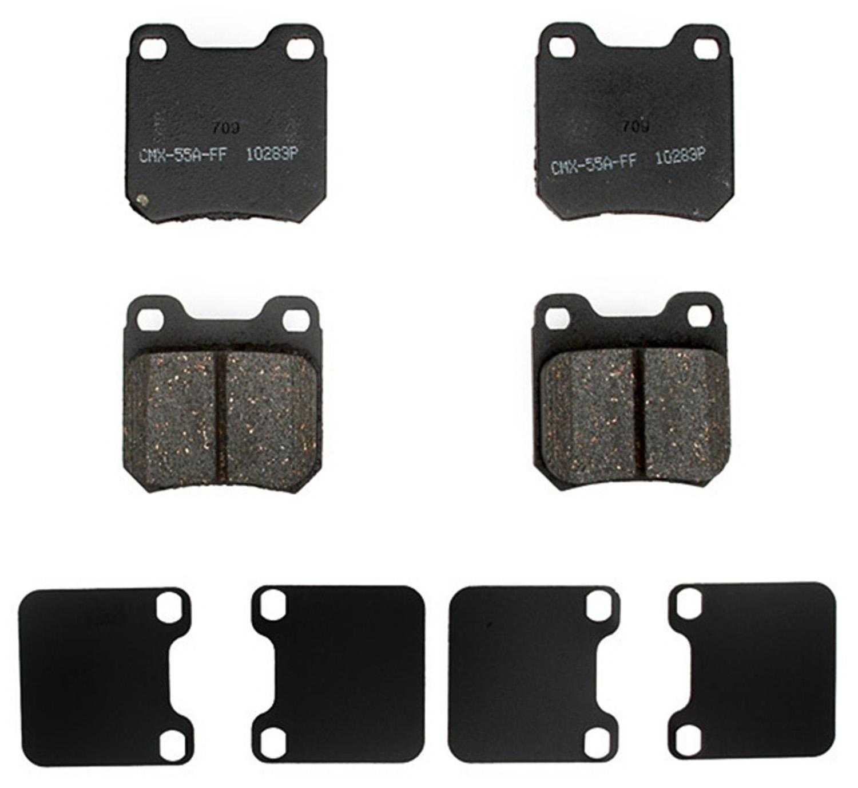 ACDELCO PROFESSIONAL BRAKES - Ceramic Disc Brake Pad (Rear) - ADU 17D709AC