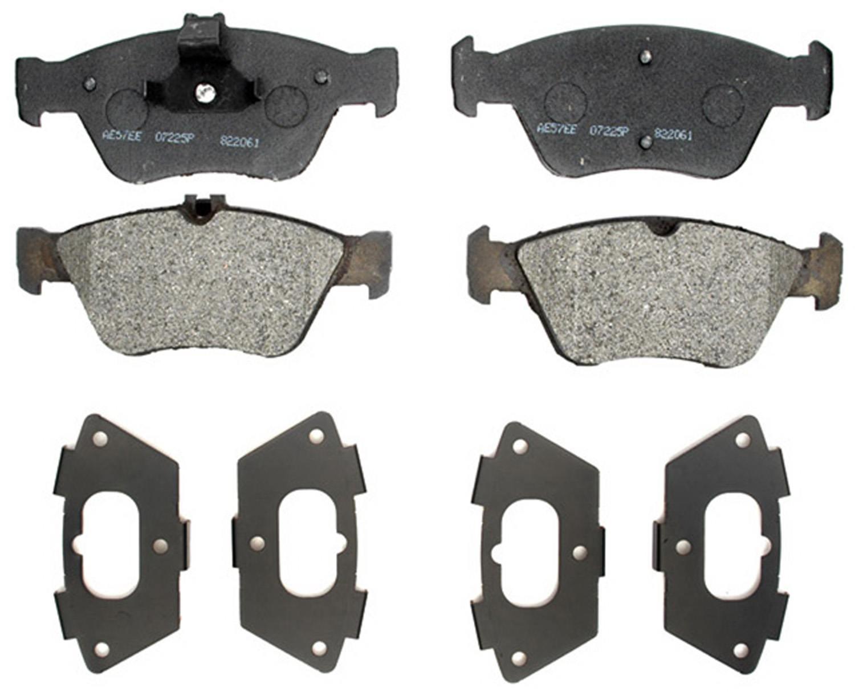 ACDELCO PROFESSIONAL BRAKES - Semi Metallic Disc Brake Pad (Front) - ADU 17D710M