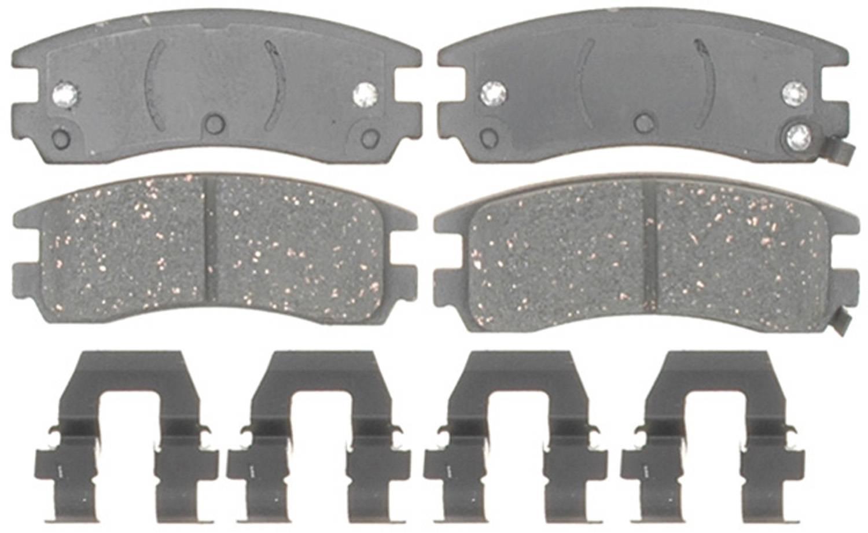 ACDELCO GOLD/PROFESSIONAL BRAKES - Ceramic Disc Brake Pad (Rear) - ADU 17D714CH