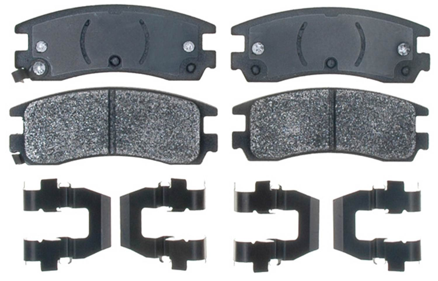 ACDELCO PROFESSIONAL BRAKES - Semi Metallic Disc Brake Pad (Rear) - ADU 17D714MH