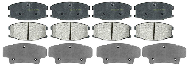 ACDELCO PROFESSIONAL BRAKES - Semi Metallic Disc Brake Pad - ADU 17D734M