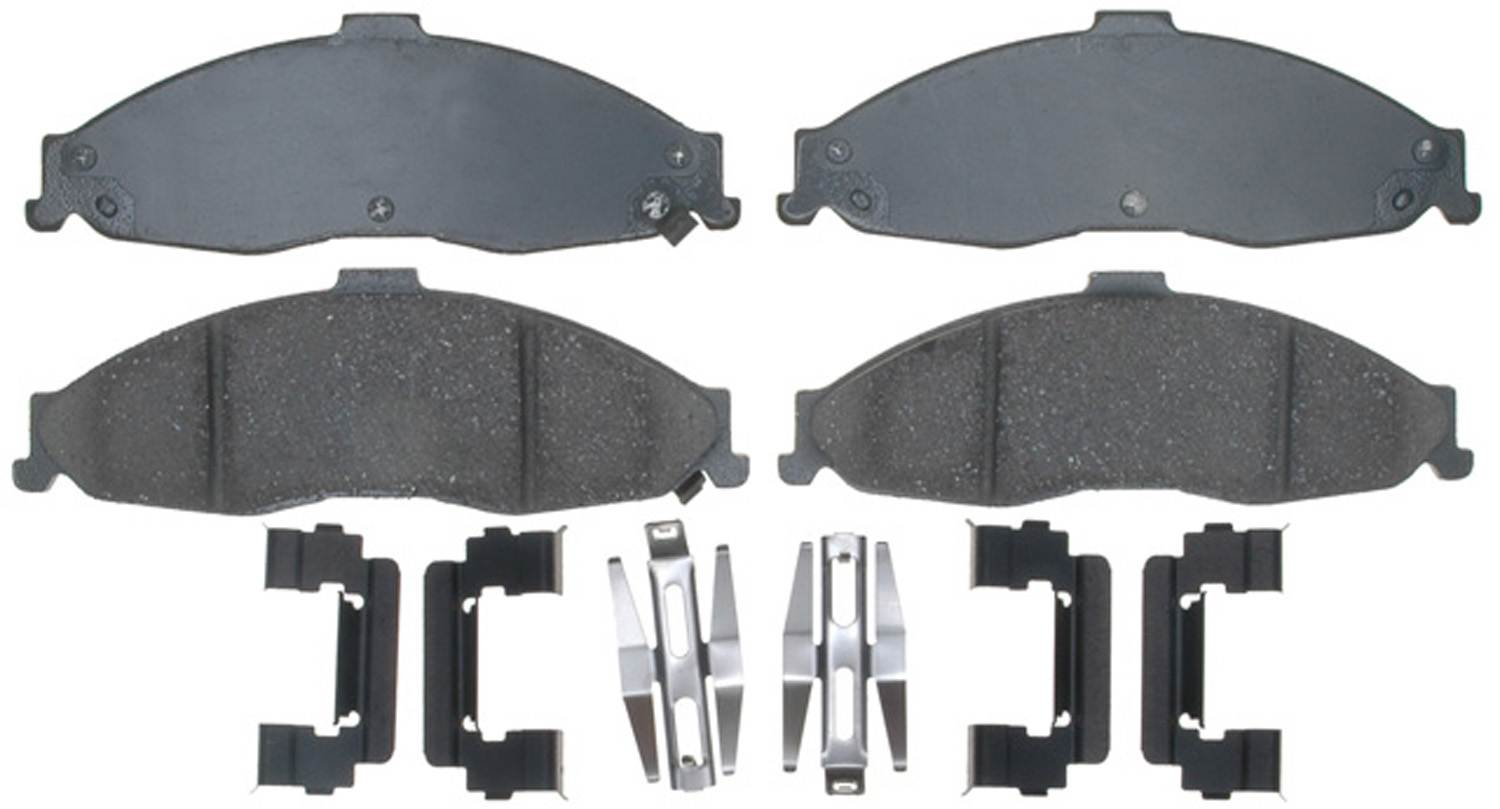 ACDELCO PROFESSIONAL BRAKES - Ceramic Disc Brake Pad (Front) - ADU 17D749CH