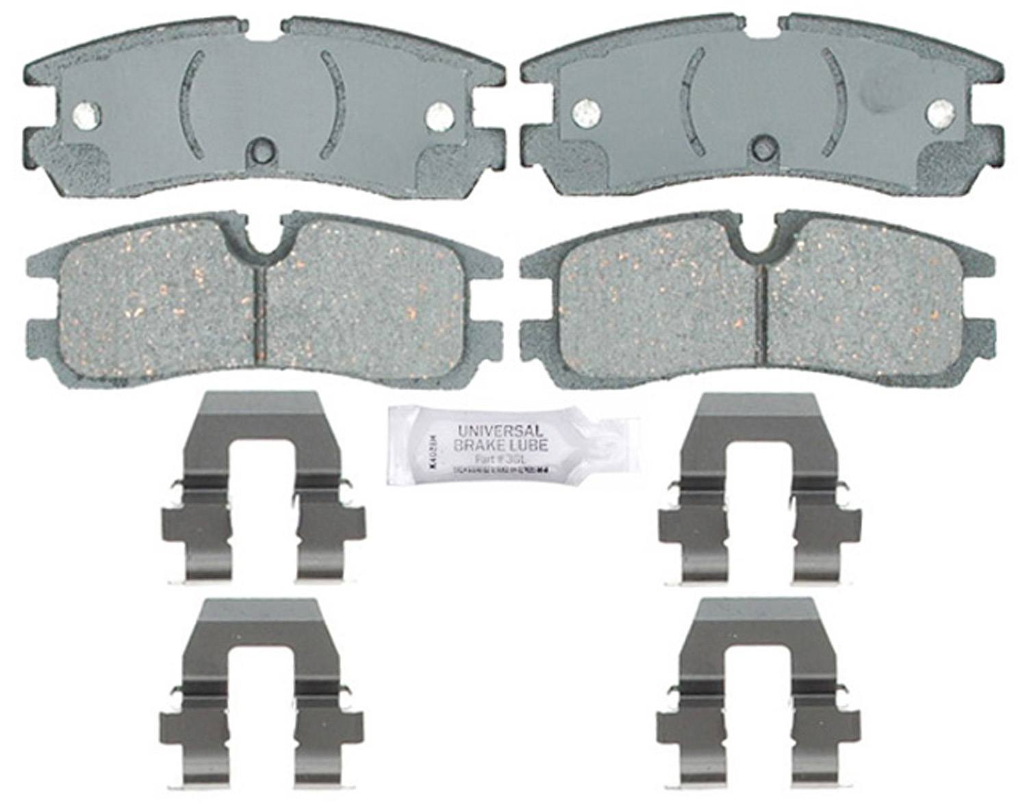 ACDELCO PROFESSIONAL BRAKES - Ceramic Disc Brake Pad (Rear) - ADU 17D754CH
