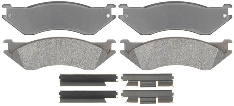 ACDELCO GOLD/PROFESSIONAL BRAKES - Semi Metallic Disc Brake Pad (Front) - ADU 17D758MH