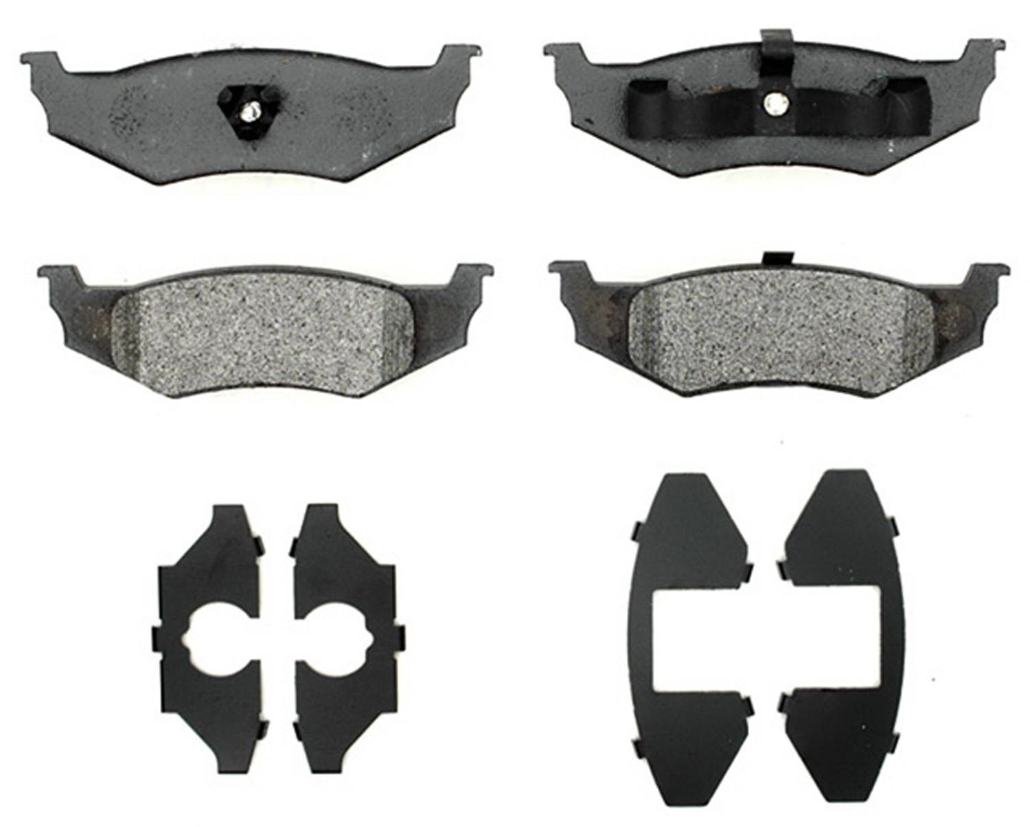 ACDELCO GOLD/PROFESSIONAL BRAKES - Semi Metallic Disc Brake Pad (Rear) - ADU 17D759M
