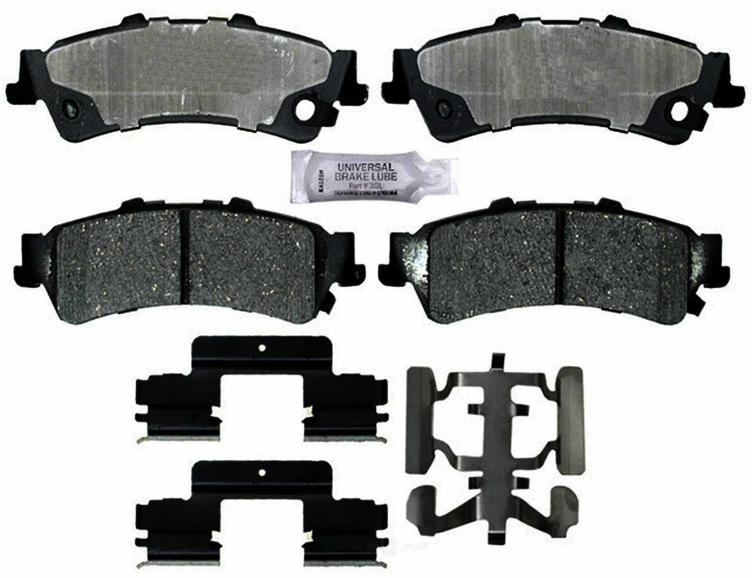 ACDELCO PROFESSIONAL BRAKES - Ceramic Disc Brake Pad (Rear) - ADU 17D792CH