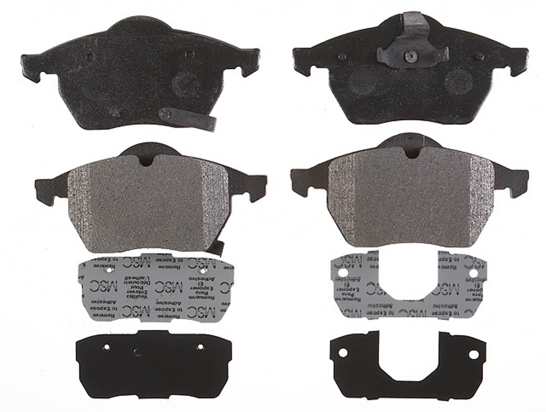 ACDELCO PROFESSIONAL BRAKES - Semi Metallic Disc Brake Pad (Front) - ADU 17D800M