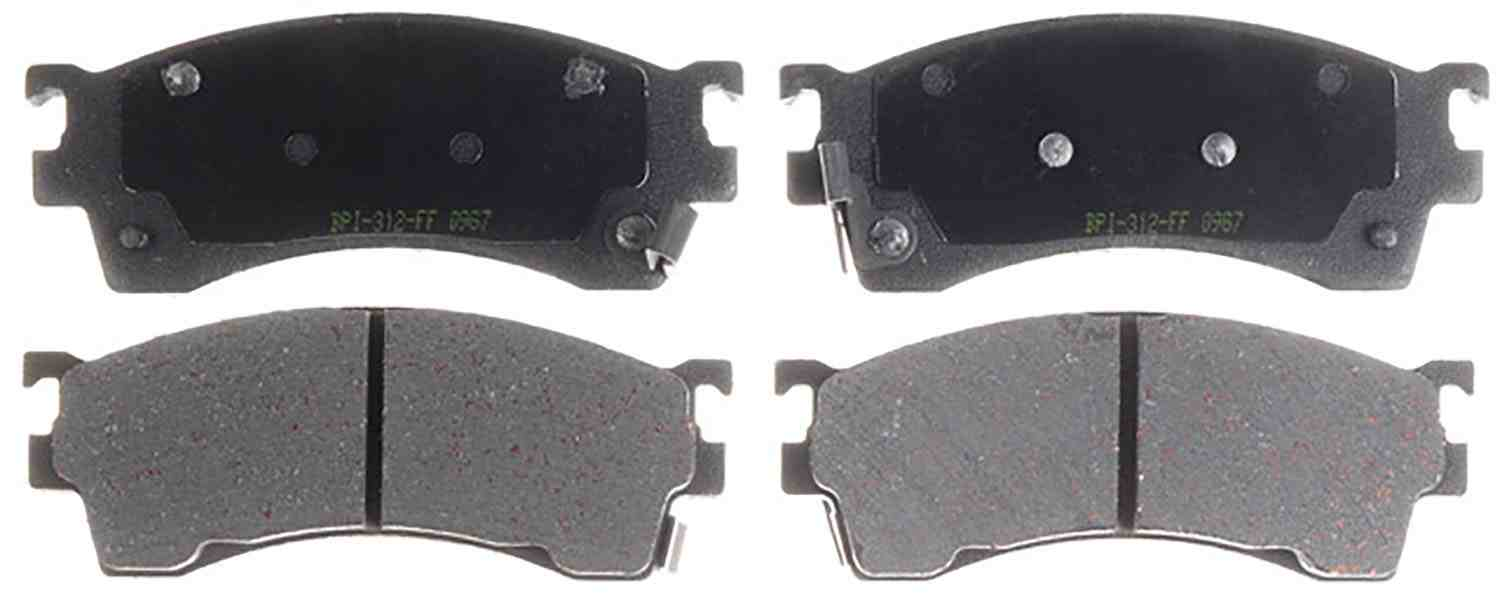 ACDELCO PROFESSIONAL BRAKES - Ceramic Disc Brake Pad (Rear) - ADU 17D813CH