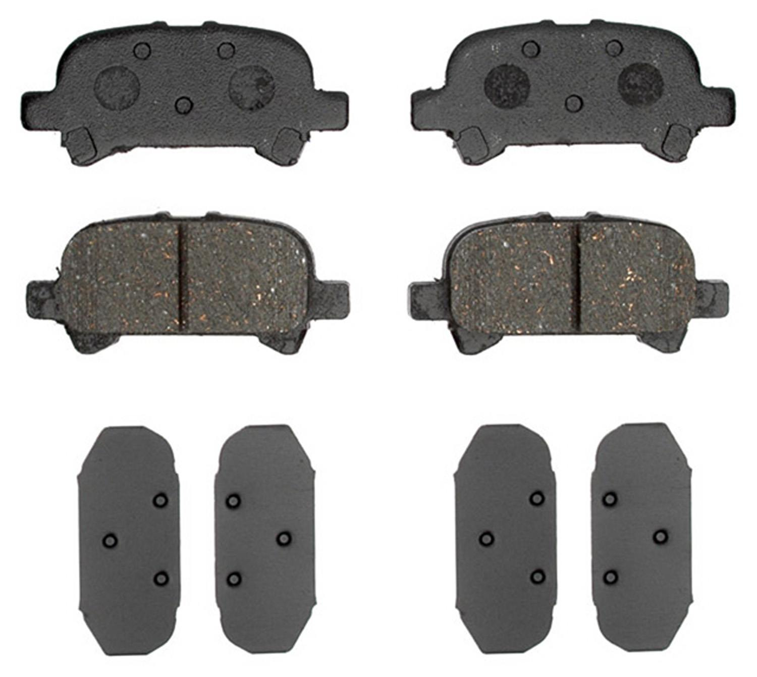 ACDELCO PROFESSIONAL BRAKES - Ceramic Disc Brake Pad (Rear) - ADU 17D828C
