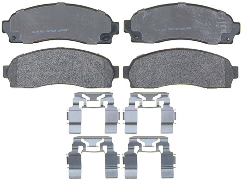 ACDELCO PROFESSIONAL BRAKES - Semi Metallic Disc Brake Pad (Front) - ADU 17D833MH
