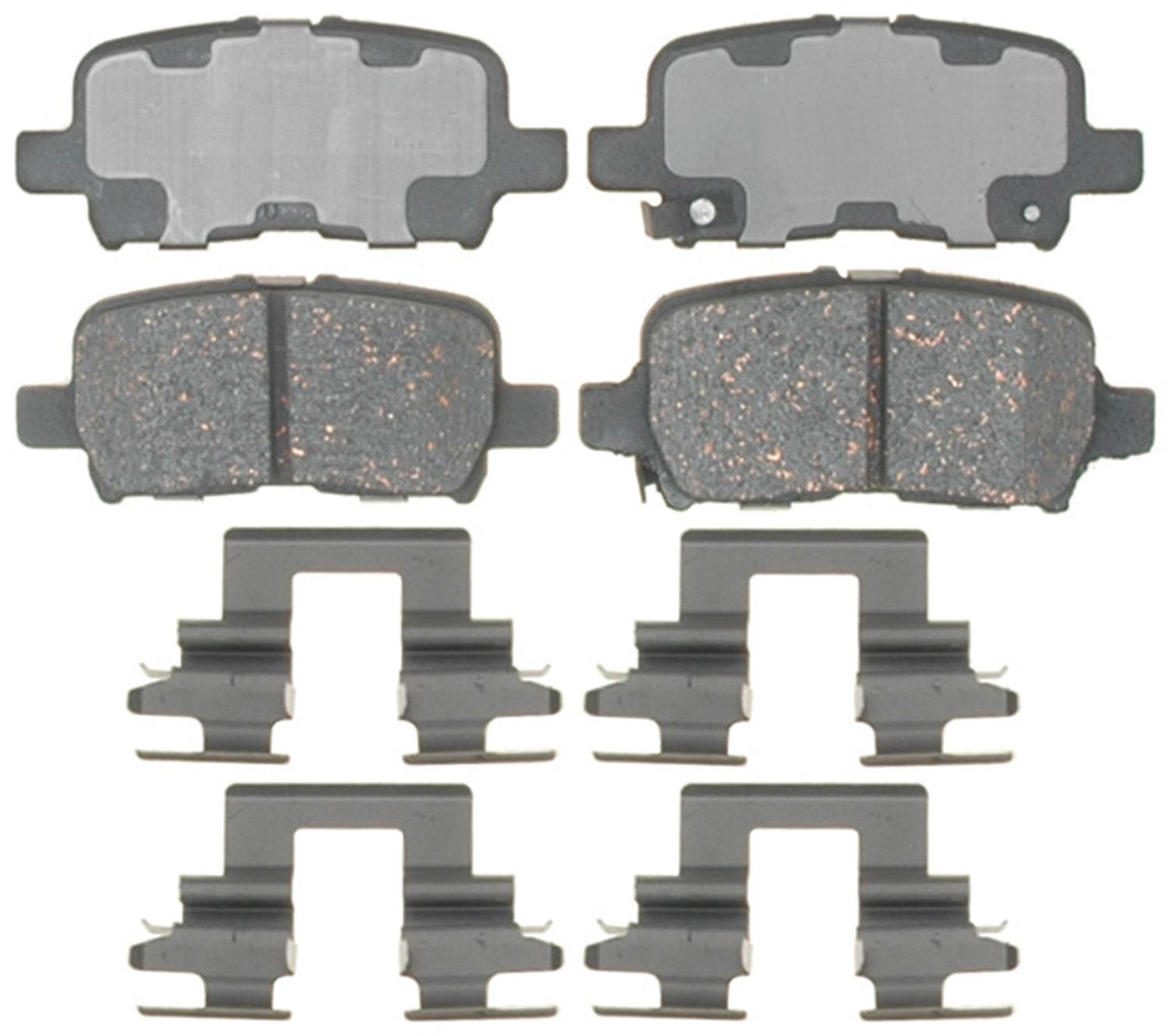 ACDELCO PROFESSIONAL BRAKES - Ceramic Disc Brake Pad (Rear) - ADU 17D865CH