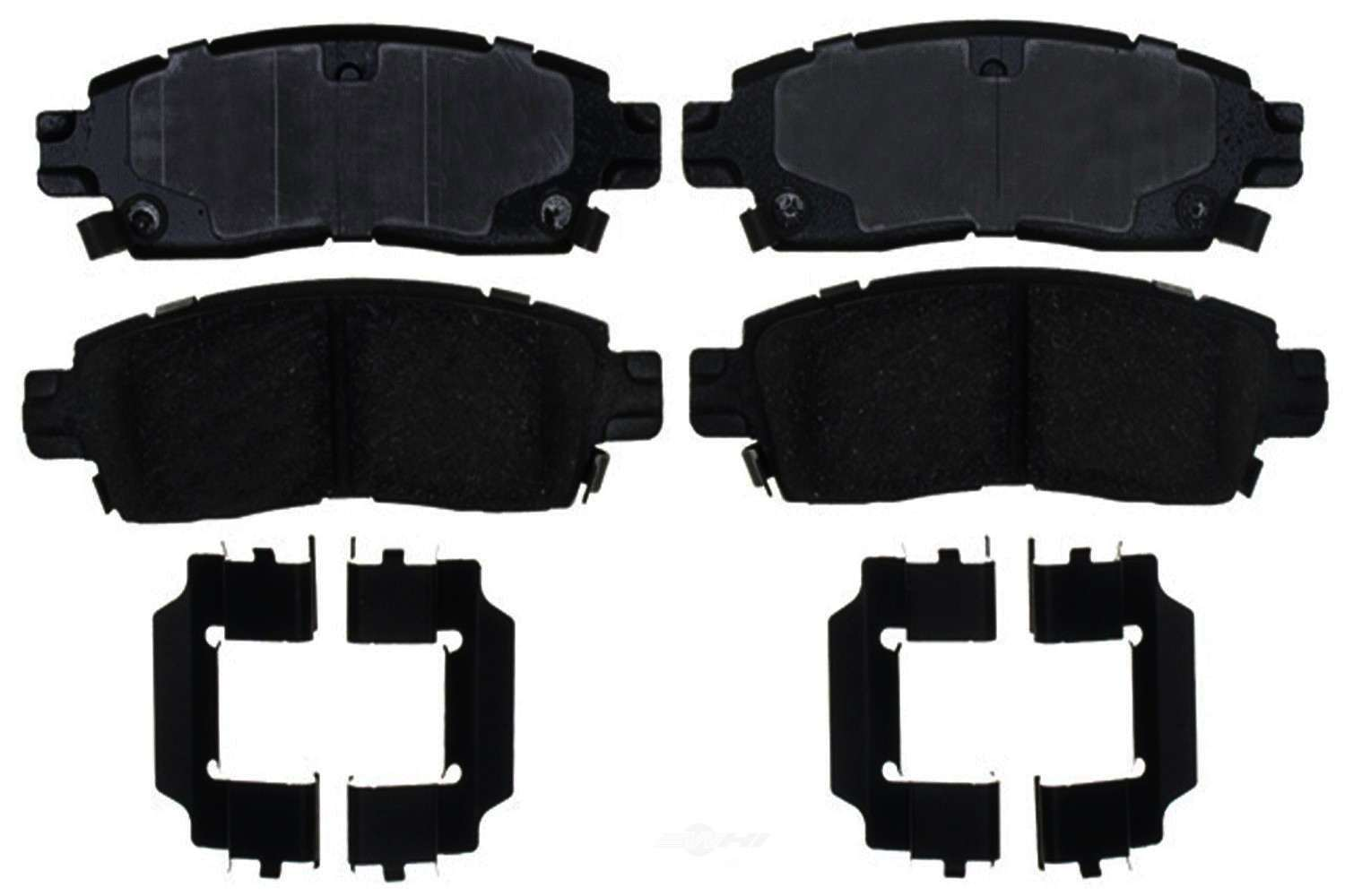 ACDELCO GOLD/PROFESSIONAL BRAKES - Ceramic Disc Brake Pad (Rear) - ADU 17D883CH
