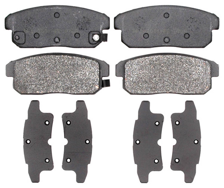 ACDELCO PROFESSIONAL BRAKES - Semi Metallic Disc Brake Pad (Rear) - ADU 17D900M