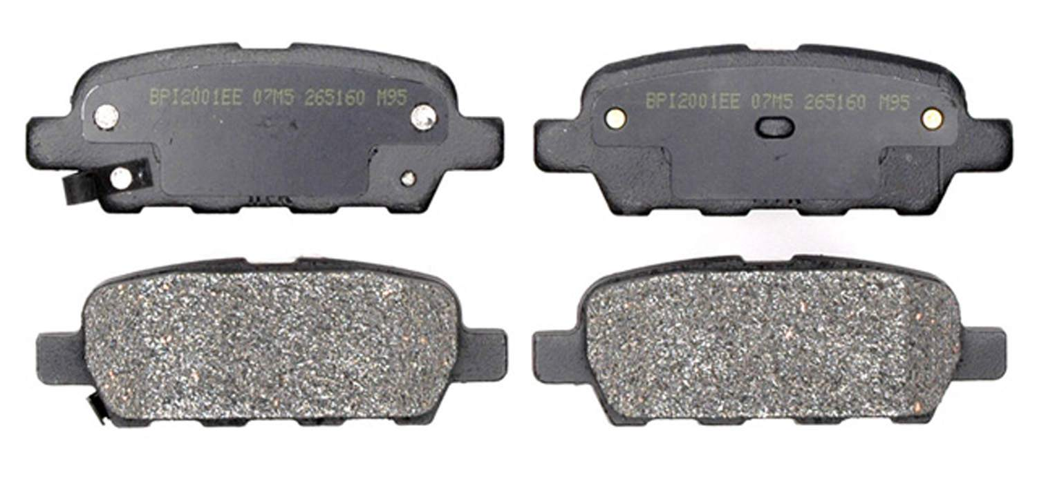 ACDELCO PROFESSIONAL BRAKES - Semi Metallic Disc Brake Pad (Rear) - ADU 17D905M