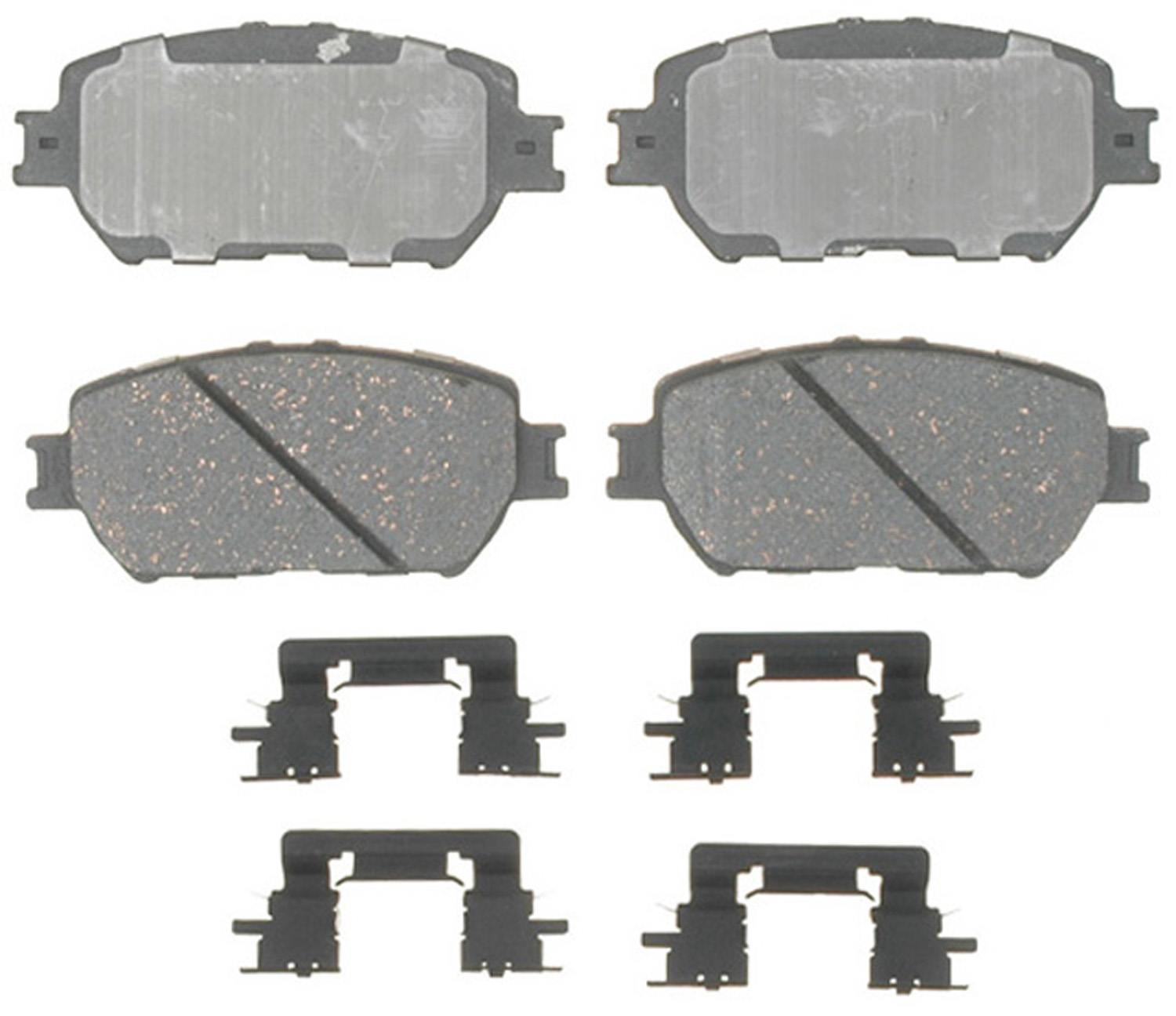ACDELCO PROFESSIONAL BRAKES - Ceramic Disc Brake Pad (Front) - ADU 17D908CH