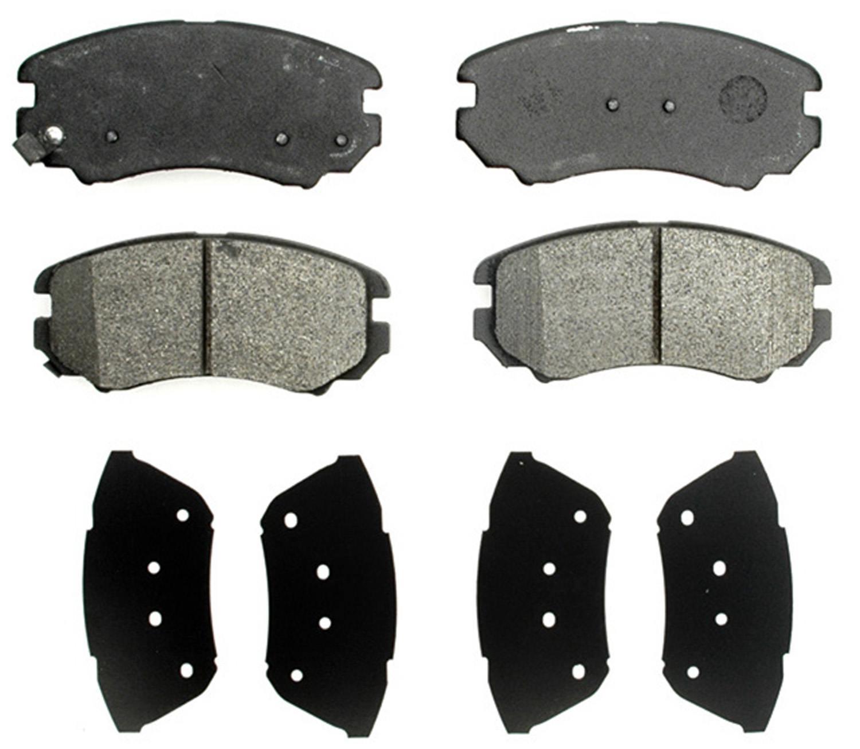 ACDELCO PROFESSIONAL BRAKES - Semi Metallic Disc Brake Pad (Front) - ADU 17D924M