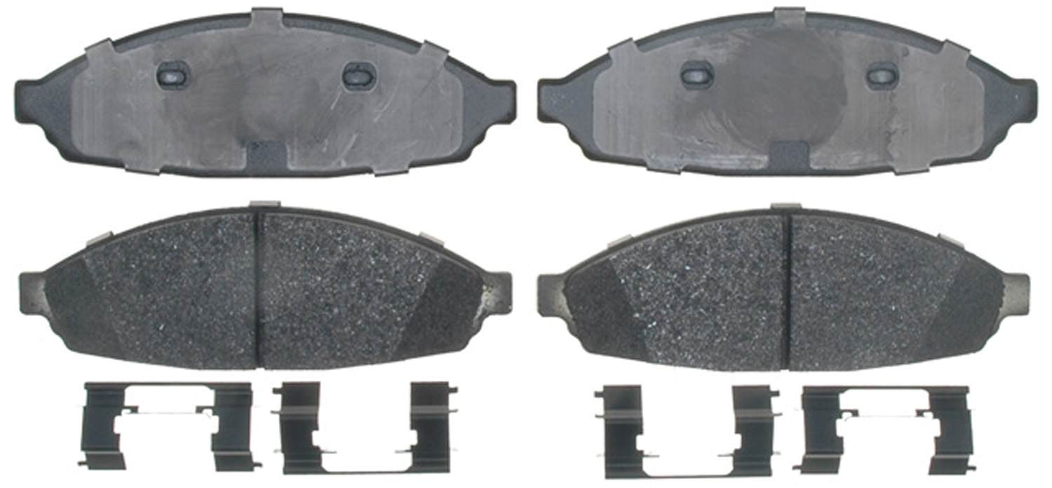 ACDELCO SPECIALTY - Police Semi-Metallic Disc Brake Pad (Front) - DCE 17D931MHPV