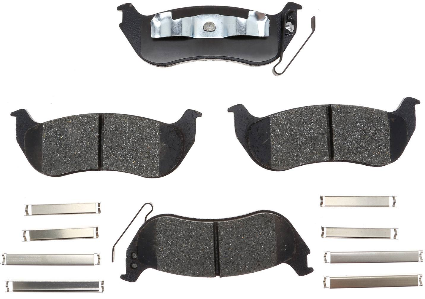 ACDELCO GOLD/PROFESSIONAL BRAKES - Ceramic Disc Brake Pad (Rear) - ADU 17D981CH
