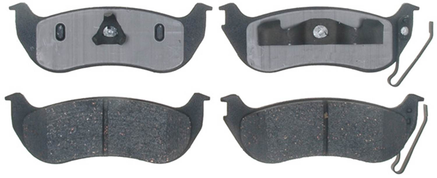 ACDELCO GOLD/PROFESSIONAL BRAKES - Ceramic Disc Brake Pad (Rear) - ADU 17D981C