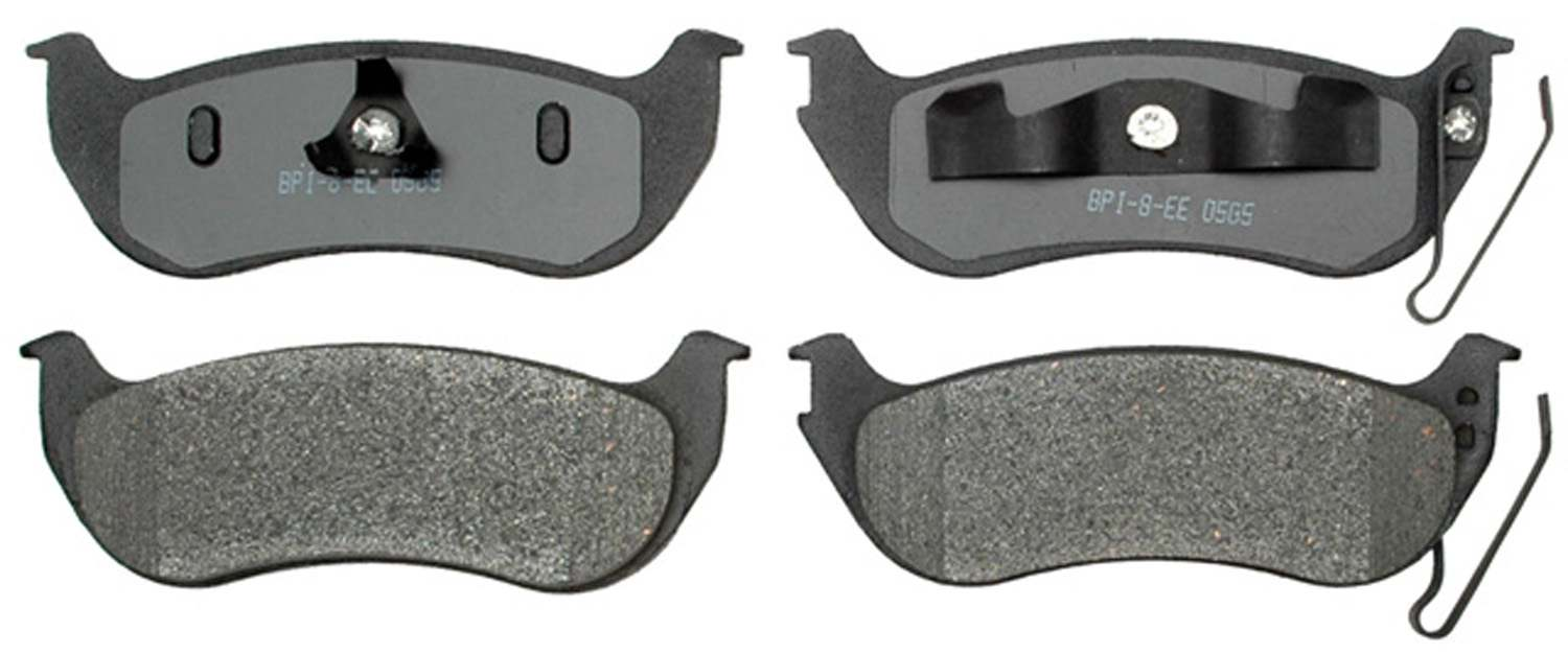ACDELCO GOLD/PROFESSIONAL BRAKES - Semi Metallic Disc Brake Pad (Rear) - ADU 17D981M