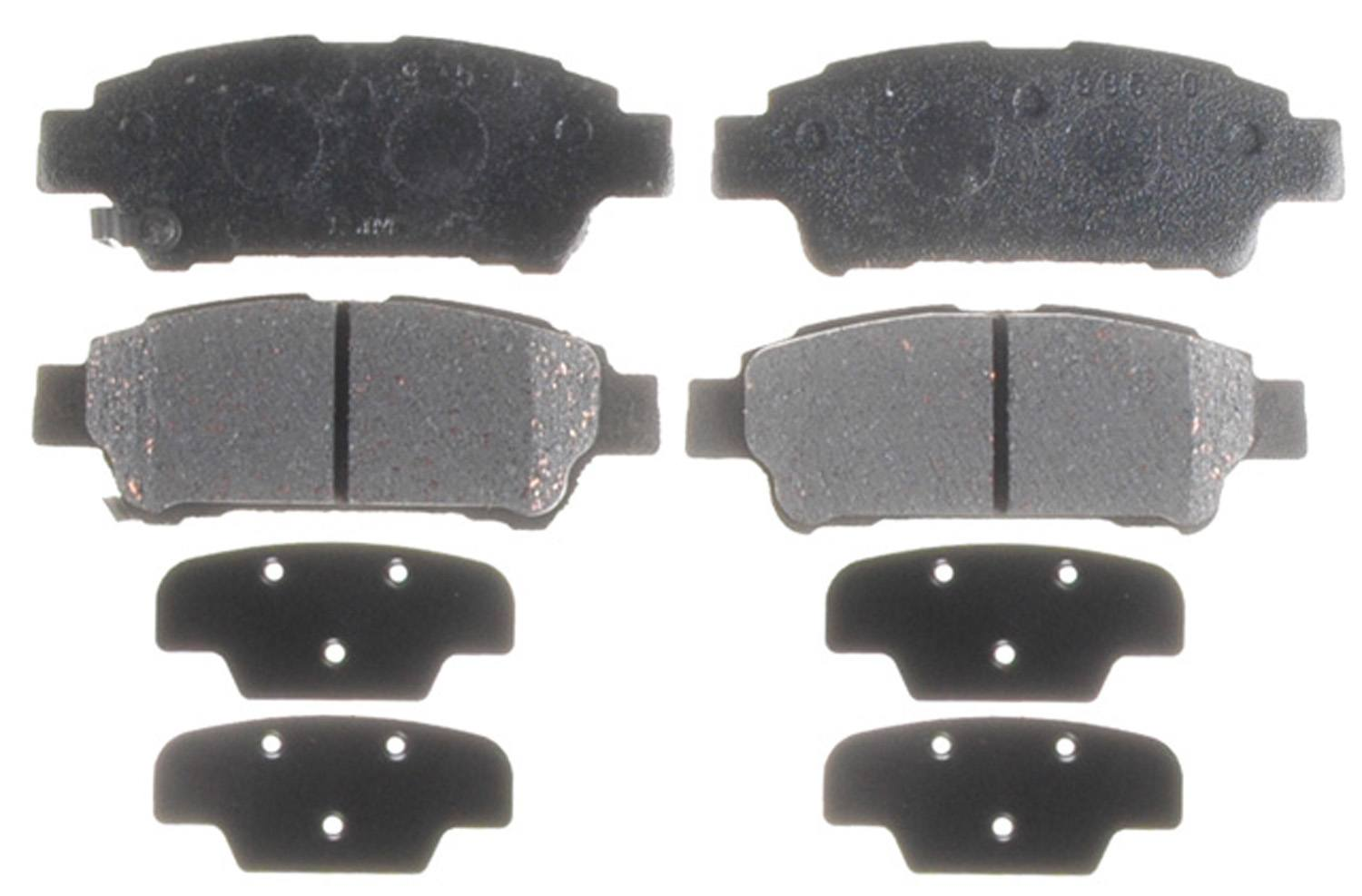 ACDELCO PROFESSIONAL BRAKES - Ceramic Disc Brake Pad (Rear) - ADU 17D995C