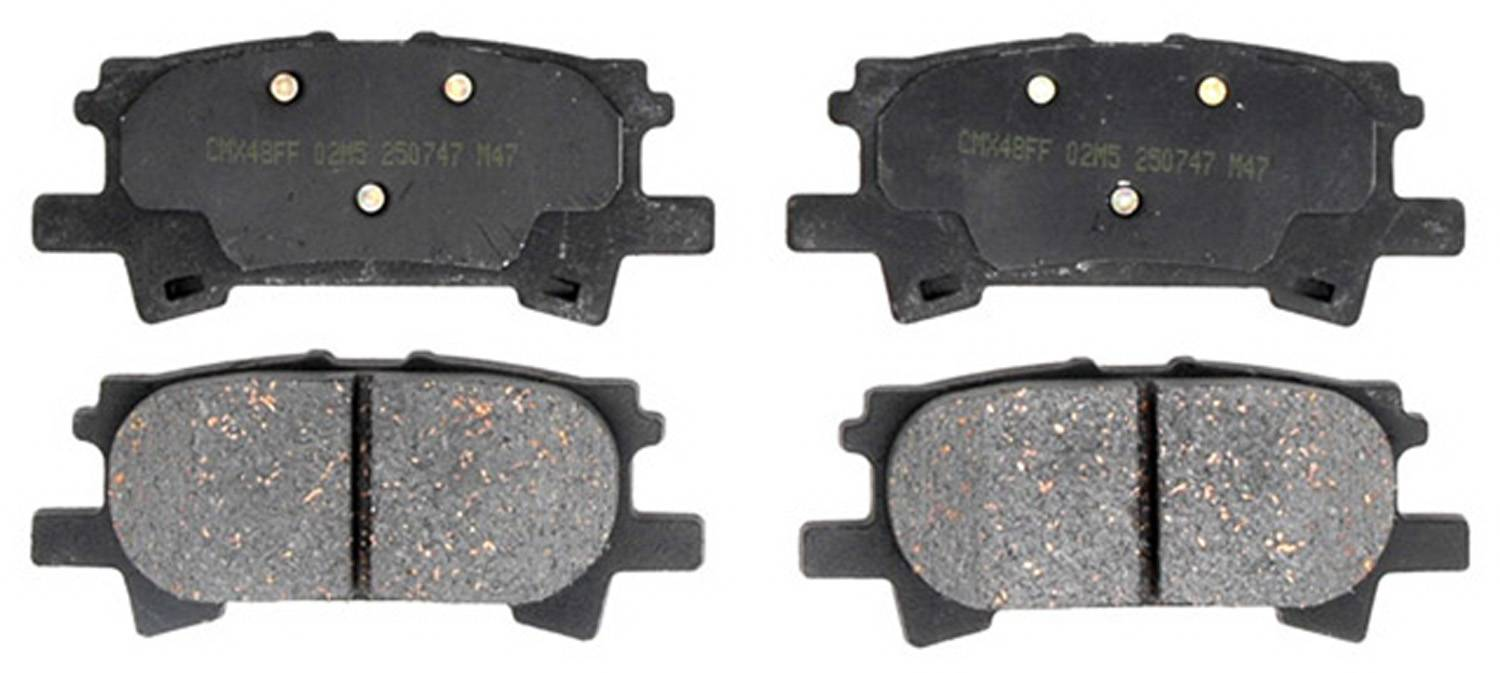 ACDELCO PROFESSIONAL BRAKES - Ceramic Disc Brake Pad (Rear) - ADU 17D996C