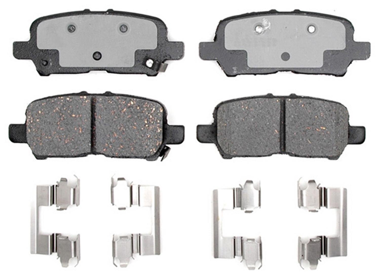 ACDELCO PROFESSIONAL BRAKES - Ceramic Disc Brake Pad (Rear) - ADU 17D999CH