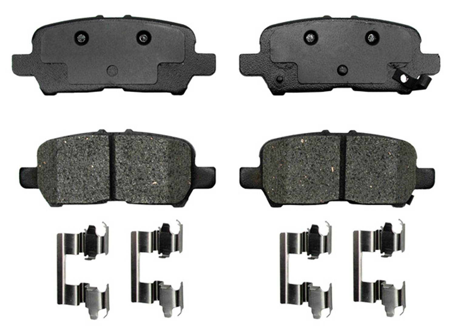 ACDELCO PROFESSIONAL BRAKES - Semi Metallic Disc Brake Pad (Rear) - ADU 17D999MH