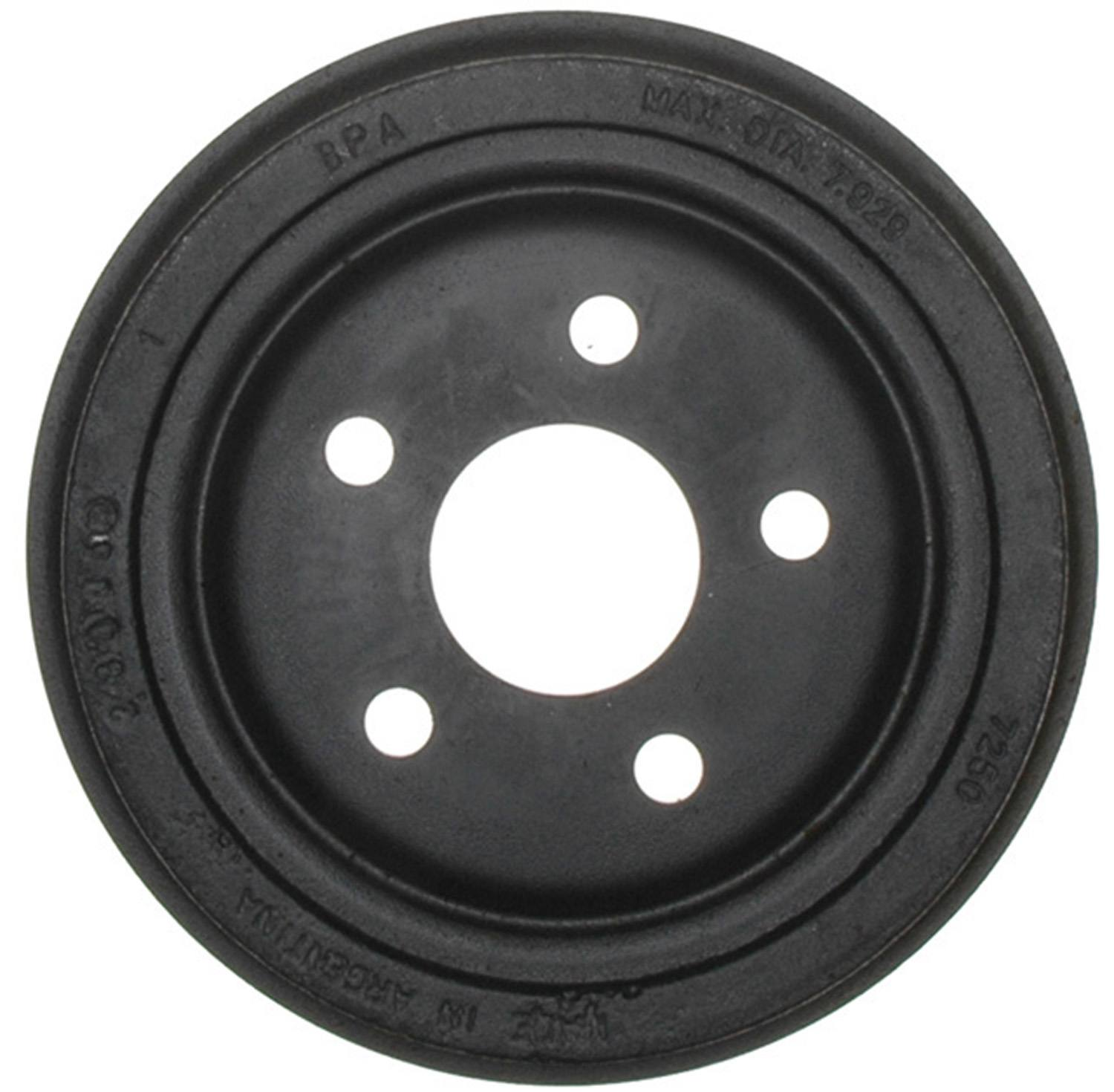 ACDELCO ADVANTAGE - Brake Drum - DCD 18B298A