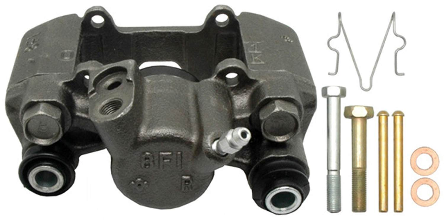 ACDELCO PROFESSIONAL BRAKES - Reman Friction Ready Non-Coated Disc Brake Caliper (Rear Right) - ADU 18FR1909