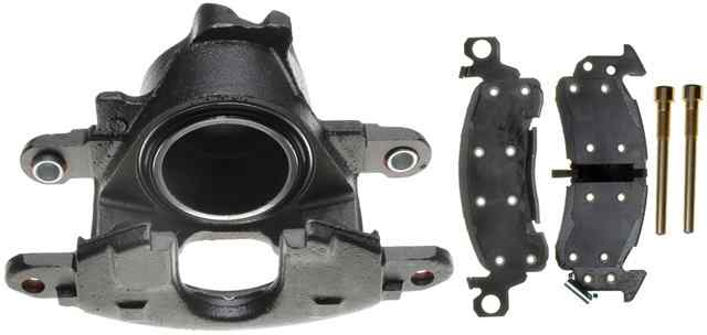 ACDELCO PROFESSIONAL BRAKES - Reman Non-Coated Loaded Disc Brake Caliper w/Semi-Metallic Pads (Front Left) - ADU 18R624