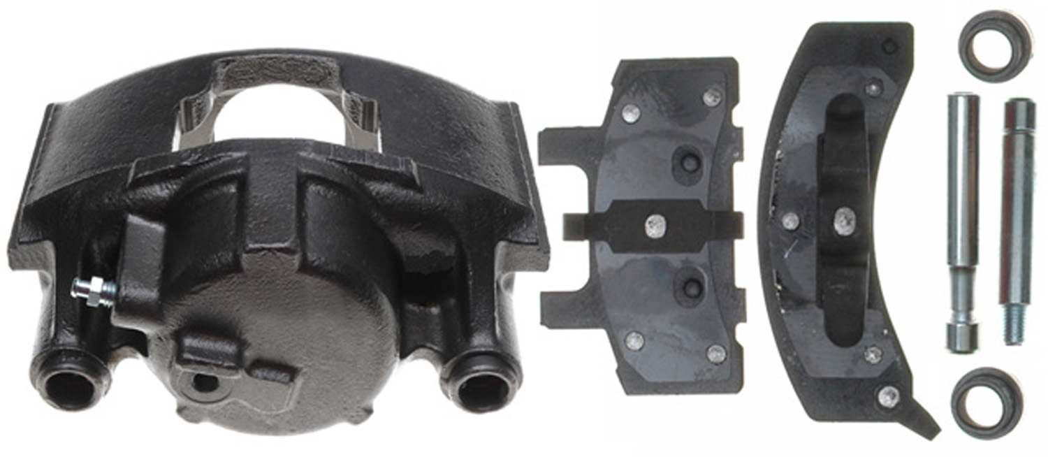 ACDELCO PROFESSIONAL BRAKES - Reman Non-Coated Loaded Disc Brake Caliper w/Semi-Metallic Pads (Front Right) - ADU 18R745