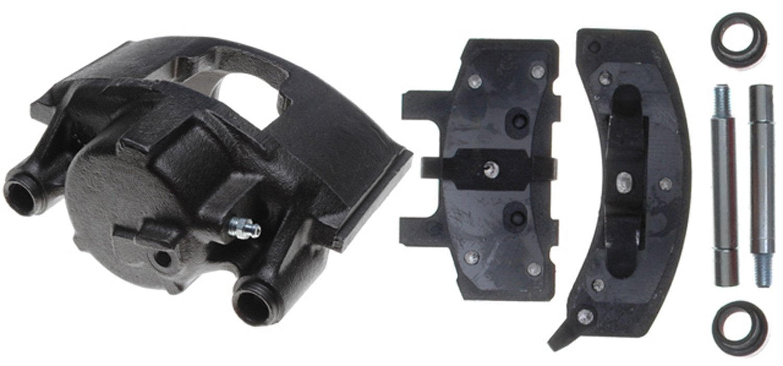 ACDELCO PROFESSIONAL BRAKES - Reman Non-Coated Loaded Disc Brake Caliper w/Semi-Metallic Pads (Front Left) - ADU 18R746