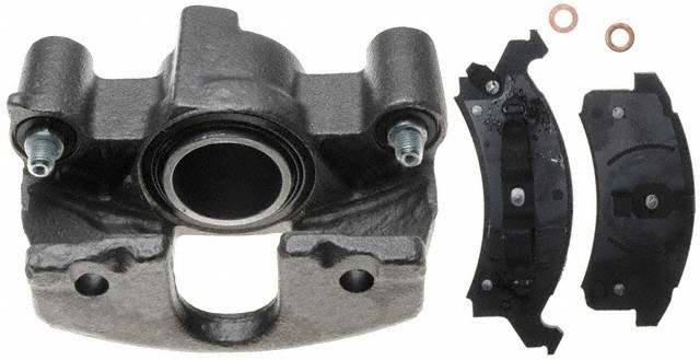 ACDELCO PROFESSIONAL BRAKES - Reman Non-Coated Loaded Disc Brake Caliper w/Semi-Metallic Pads (Front Right) - ADU 18R964