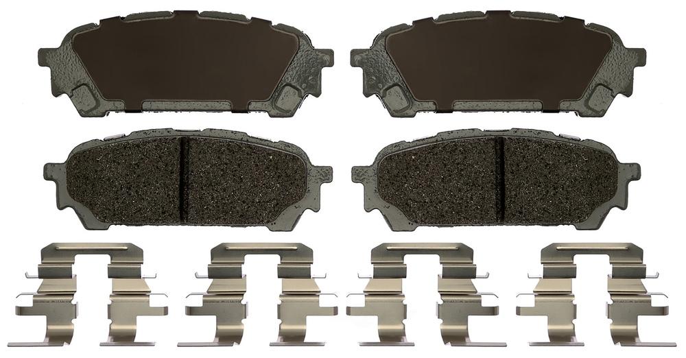 ACDELCO SILVER/ADVANTAGE - Ceramic Disc Brake Pad - DCD 14D1004CH