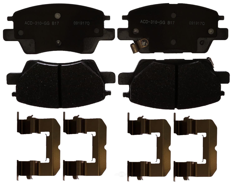 ACDELCO SILVER/ADVANTAGE - Ceramic Disc Brake Pad (Front) - DCD 14D1844CH