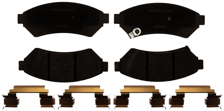 ACDELCO SILVER/ADVANTAGE - Ceramic Disc Brake Pad (Front) - DCD 14D1075CHF1