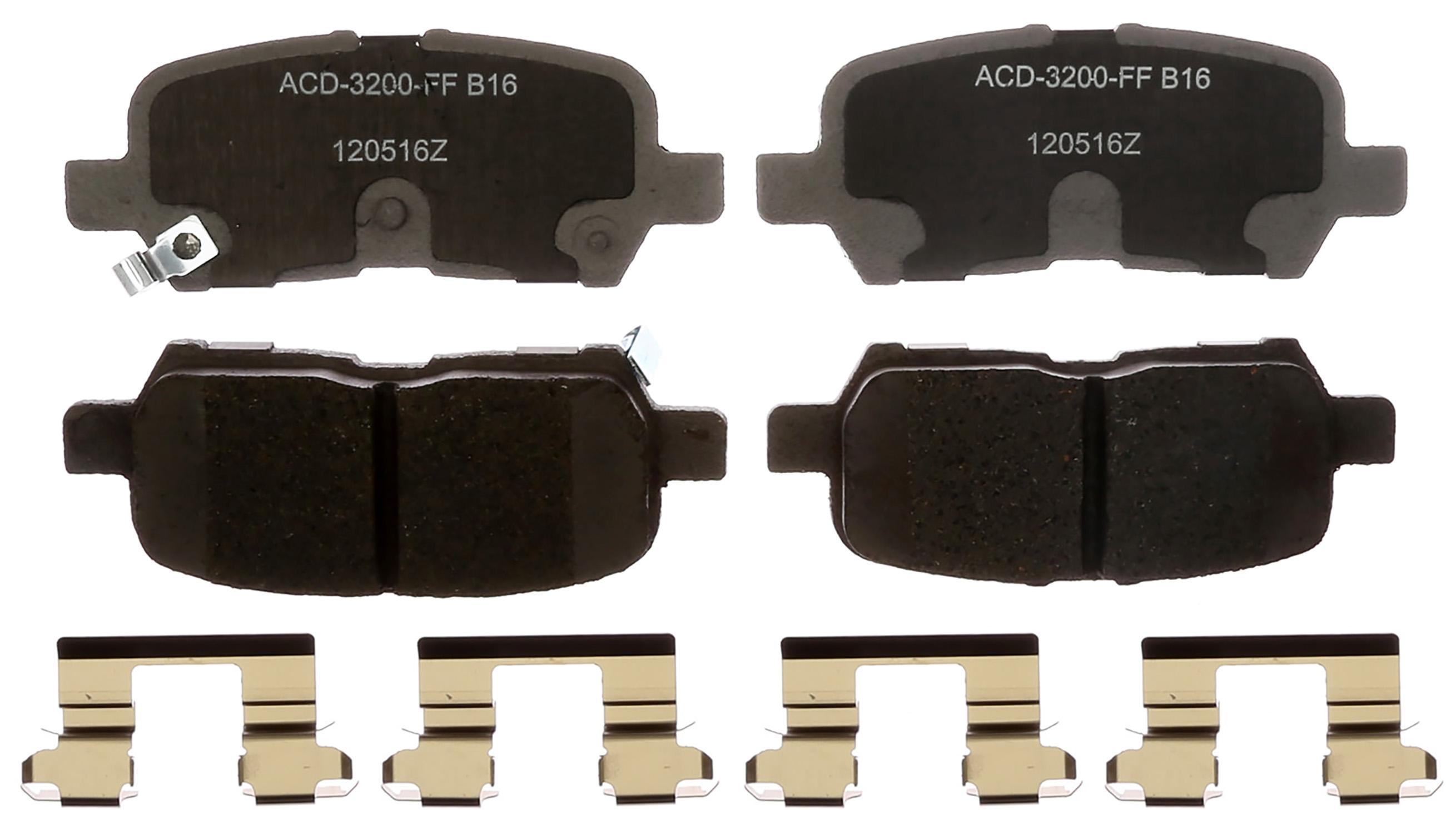 ACDELCO SILVER/ADVANTAGE - Ceramic Disc Brake Pad (Rear) - DCD 14D999CHF1