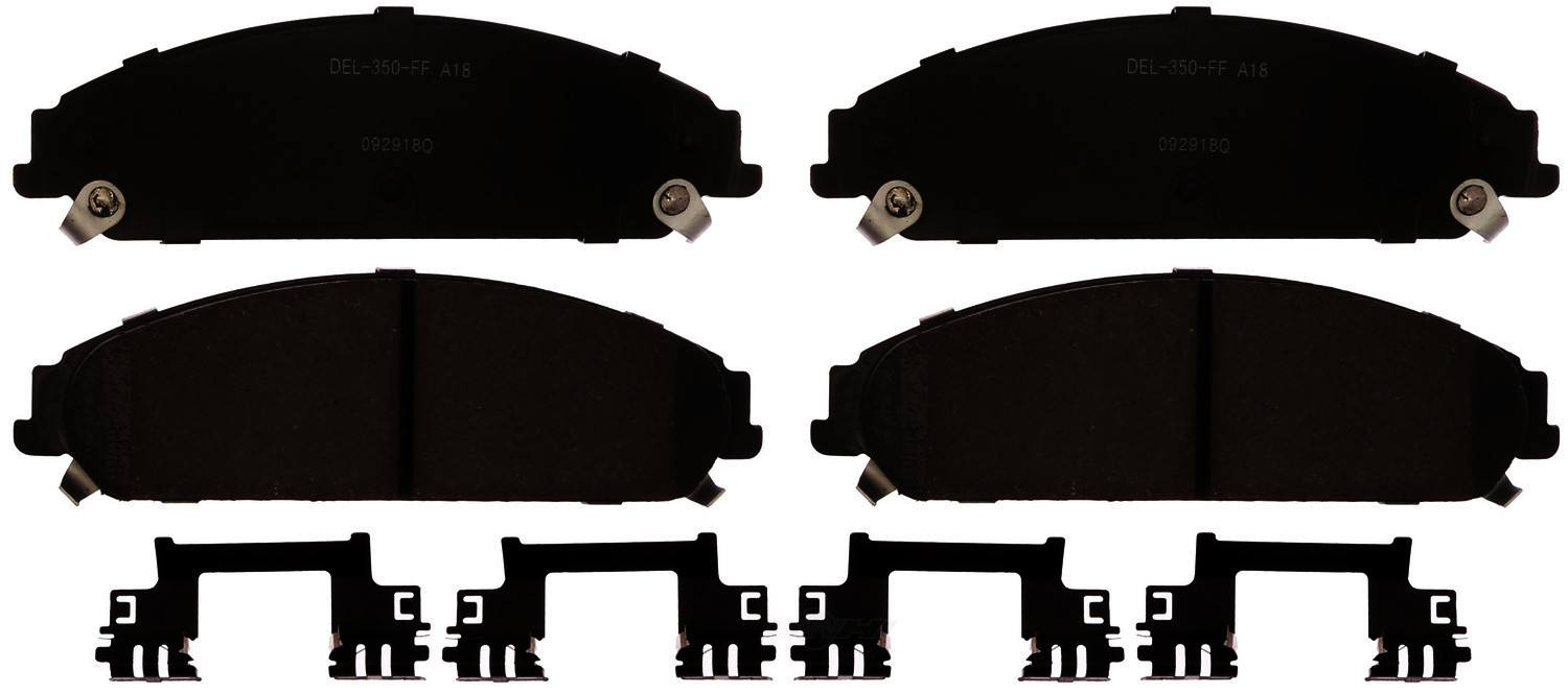 ACDELCO GOLD/PROFESSIONAL BRAKES - Ceramic Disc Brake Pad (Front) - ADU 17D1058CH