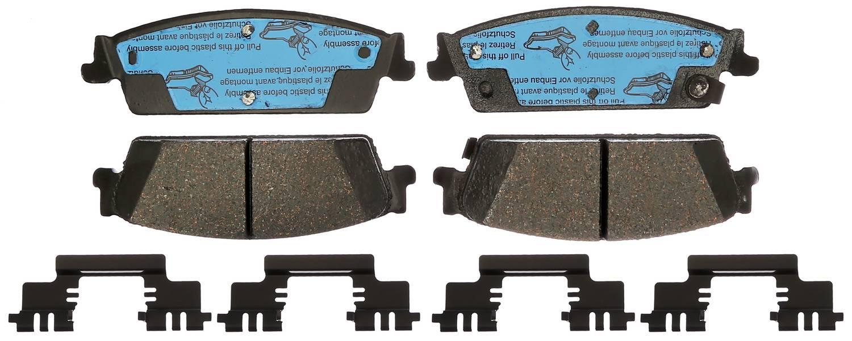 ACDELCO GOLD/PROFESSIONAL BRAKES - Ceramic Disc Brake Pad (Rear) - ADU 17D1194CHF1