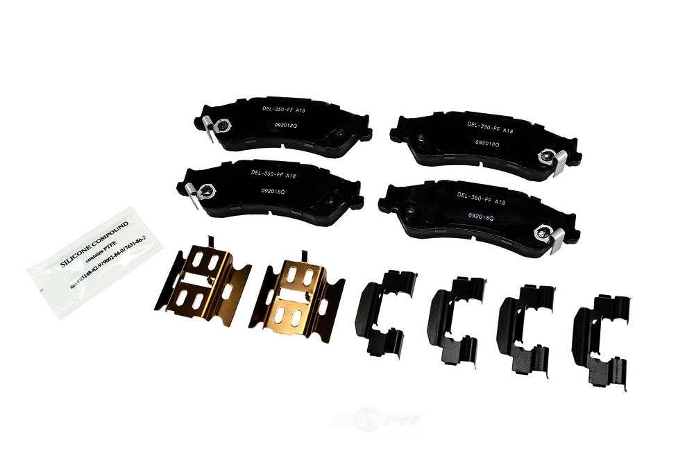ACDELCO GOLD/PROFESSIONAL BRAKES - Ceramic Disc Brake Pad (Rear) - ADU 17D729CHF1